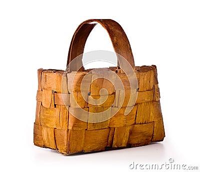 Empty  wood basket