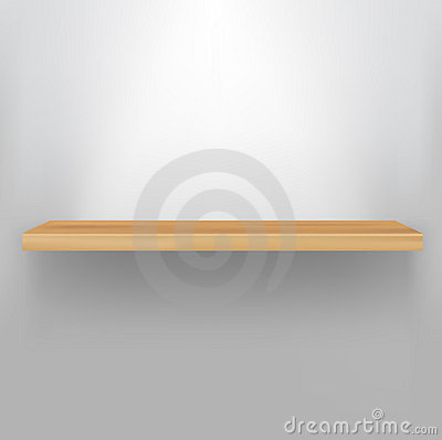 Free Empty Wood Shelf Royalty Free Stock Photography - 20075087