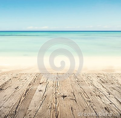 Free Empty Wooden Pier With View On Sandy Beach Stock Photos - 54026883