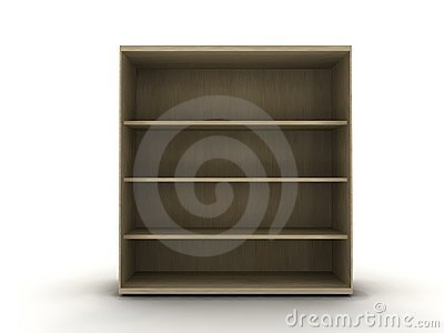 Empty wooden shelf