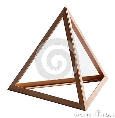 wooden triangular frame stock photo image 41142543