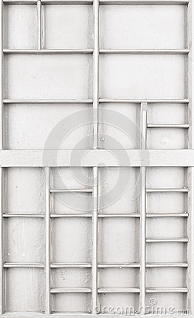 Free Empty Wooden White Painted Seed Or Letters Or Collectibles Box Stock Images - 93748944