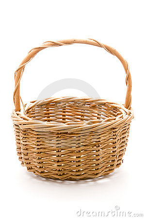 Free Empty Woven Basket Stock Photography - 12495462