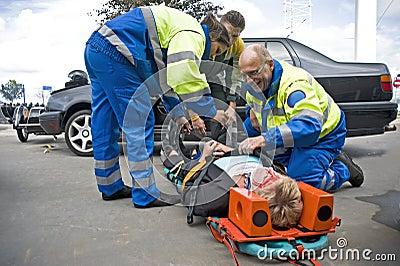 EMS team at work