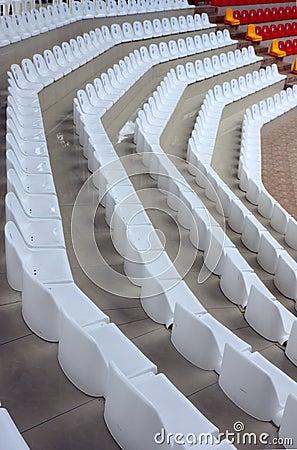 Emty tribune rows