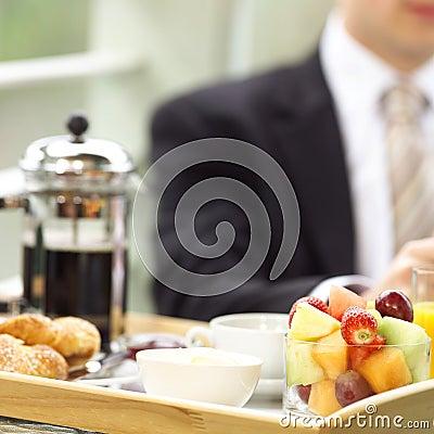 En el desayuno
