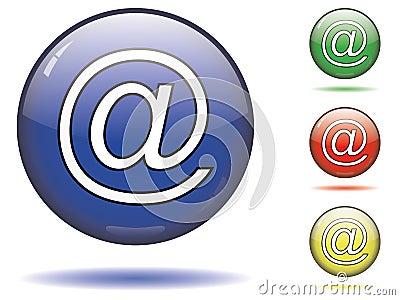 En el símbolo del email