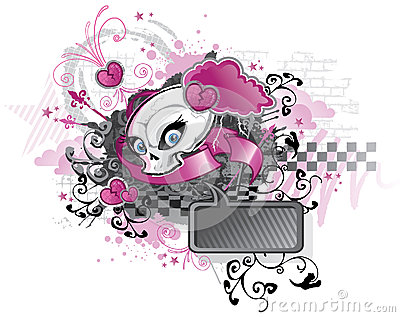Punk design för flicka
