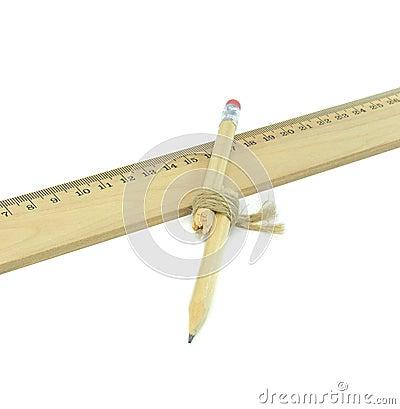 En recylcled bruten blyertspenna