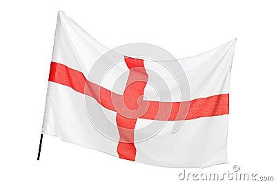 En studio sköt av en flagga av England våg