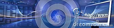 En-tête : Technologie et connexions internet promptes