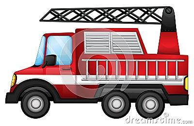 En transport åker lastbil