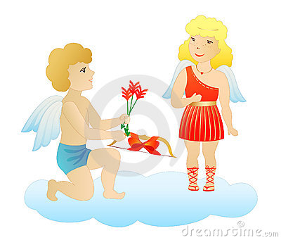 Enamored cupids