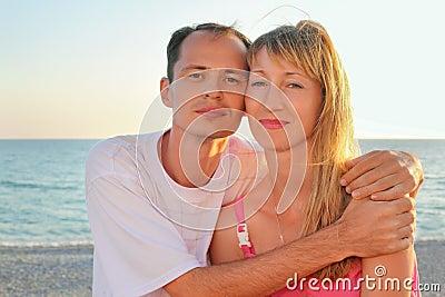 Enamored man and woman