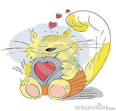 Enamoured cat