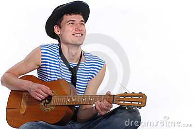 Enamoured guitarist