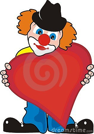 Enamoured lovely small clown with big heart