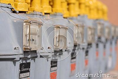 Enbridge Gas Meters Editorial Photography