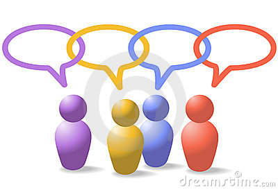 Encadenamiento social del enlace de red de los símbolos de la gente de los media