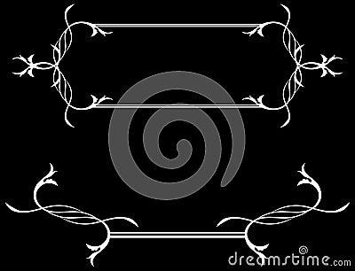 encadrement noir et blanc d 39 asbtract images libres de droits image 13018399. Black Bedroom Furniture Sets. Home Design Ideas