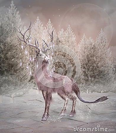 Free Enchanted Elk Stock Photo - 57112770