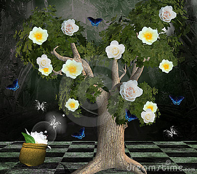 Enchanted nature series - tree of the roses