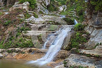 Enchanted small waterfall