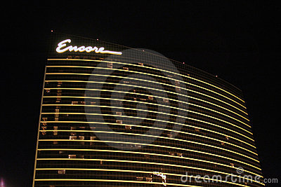 Encore Hotel at Night Editorial Image