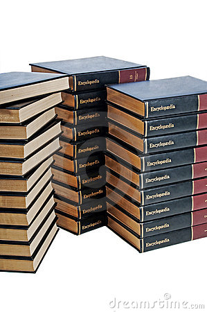 Encyclopedia set in three stacks