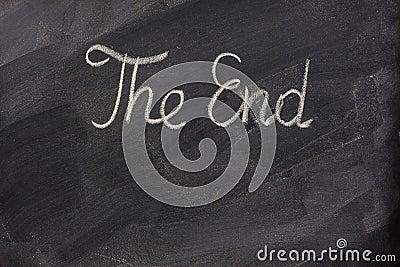 The end on blackboard