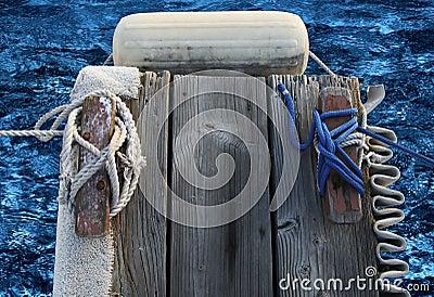 End of boat dock finger