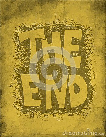 The End. Hand drawn.
