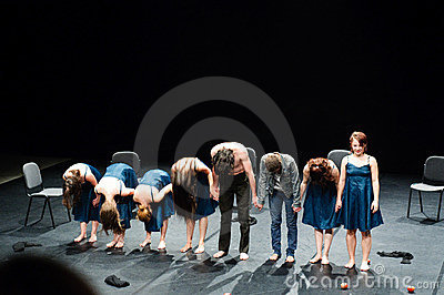 End of modern dance show Editorial Photo