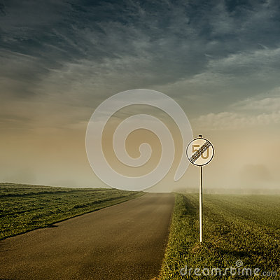 Free End Of Speed Limit 50 Sign Stock Images - 47395754