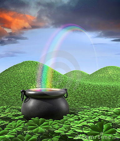 Free End Of The Rainbow Stock Images - 4619884