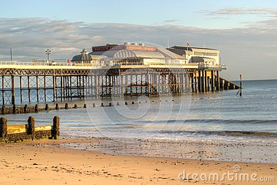 End of the pier at cromer, United Kingdom. Editorial Image