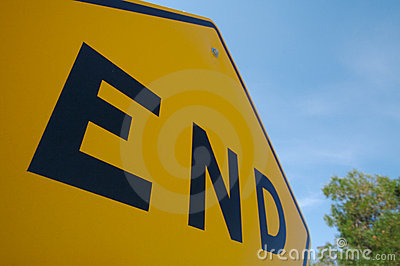 End Traffic Sign