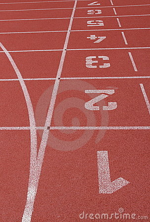 Ending line of runing track