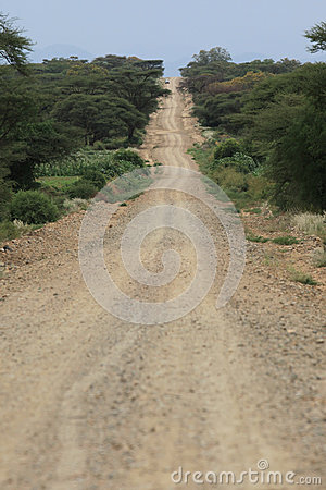 Endless African road