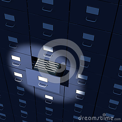 Endless array of file cabinets