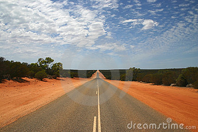 Endless Highway in Outback.