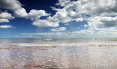 Endless skies over sidmouth beach