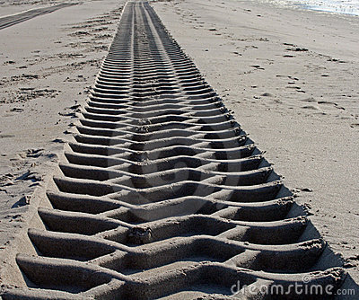 Endless tire track