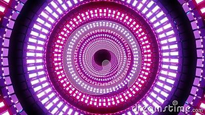 Endlos abstraktes, farbiges Design mit weißem Muster, 3D-Abbildung, Hintergrundmusik stock video
