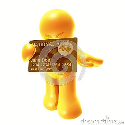 Endorsing  credit card