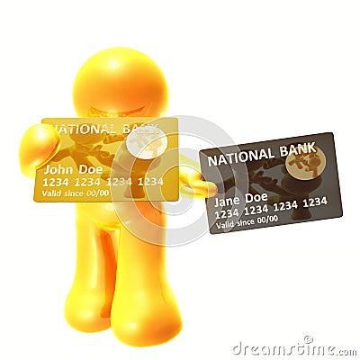 Endorsing  and platinum credit card