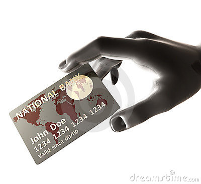 Endorsing silver credit card