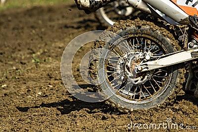 Enduro motorbike wheel