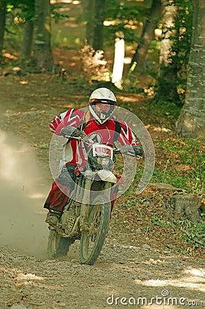 Enduro rider Editorial Stock Image