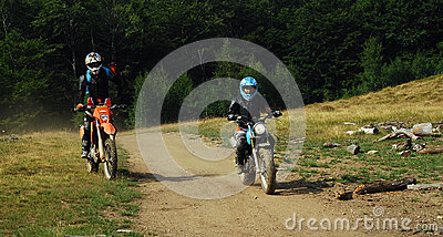 Enduro riders Editorial Stock Image